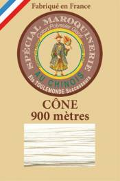 Leather polycotton thread size 28/2 - 900m cone - Col. 105 Natural