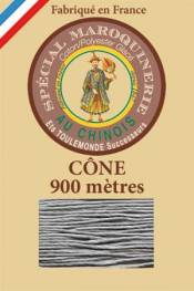 Leather polycotton thread size 28/2 - 900m cone - Col. 992 Mouse