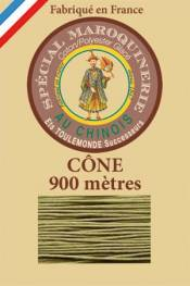 Leather polycotton thread size 28/2 - 900m cone - Col. 643 Moss