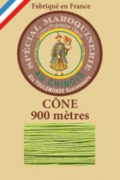 Leather polycotton thread size 28/2 - 900m cone - Col. 455 Light green