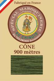 Leather polycotton thread size 28/2 - 900m cone - Col. 735 Chartreuse