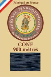 Leather polycotton thread size 28/2 - 900m cone - Col. 266 Blue