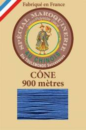 Leather polycotton thread size 28/2 - 900m cone - Col. 665 Royal blue
