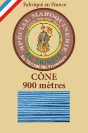 Leather polycotton thread size 28/2 - 900m cone - Col. 677 Turquoise