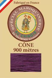 Leather polycotton thread size 28/2 - 900m cone - Col. 218 Violet