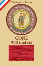 Leather polycotton thread size 28/2 - 900m cone - Col. 128 Red