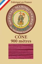 Leather polycotton thread size 28/2 - 900m cone - Col. 190 Rosewood