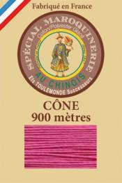 Leather polycotton thread size 28/2 - 900m cone - Col. 125 Peony