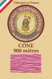 Leather polycotton thread size 28/2 - 900m cone - Col. 200 Pink