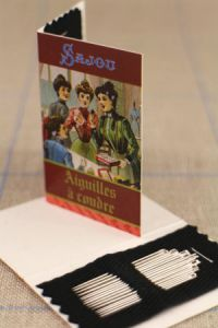 20 sewing needles - sizes 3, 5, 7 & 9 - Sajou Sewing Club booklet