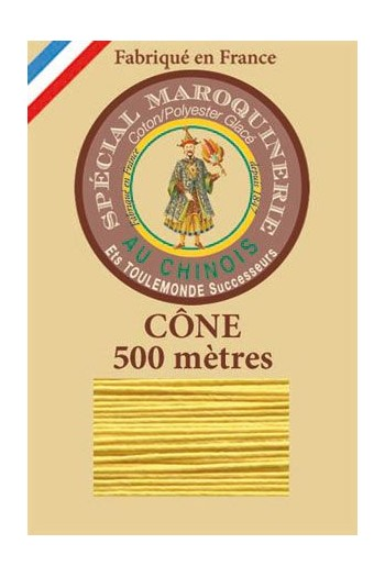 Fil Au Chinois leatherwork polycotton thread size 28/4 - 500m cone - Col. 239 Chicklet