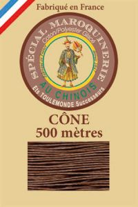 Fil Au Chinois leatherwork polycotton thread size 28/4 - 500m cone - Col. 276 Brown
