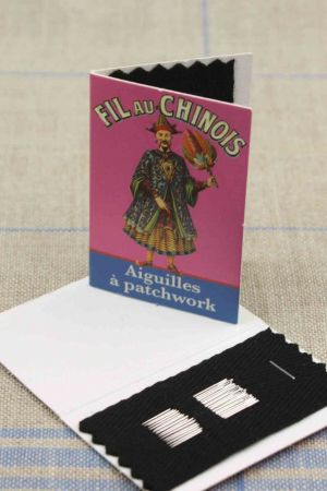 20 patchwork needles - size 10 - Fil Au Chinois pink booklet