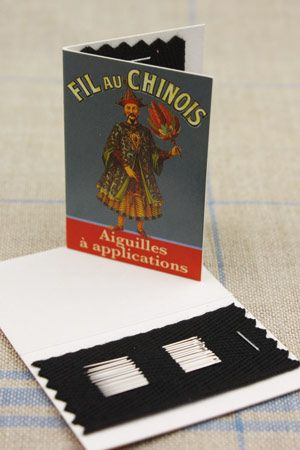 20 appliqué needles - size 11 - Fil Au Chinois blue booklet