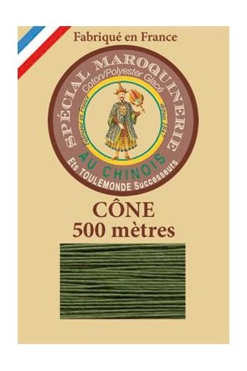 Fil spécial maroquinerie 28/4 Fil Au Chinois - Cône 500 m - Coloris 735 Chartreuse