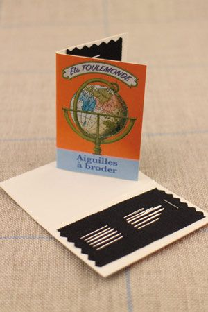 Six embroidery needles sizes 22, 24 & 26 - Tonkin booklet