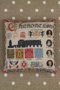 Kit couture petit coussin grille Chenonceau