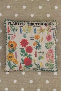 Tinctorial Plants pattern small cushion sewing kit