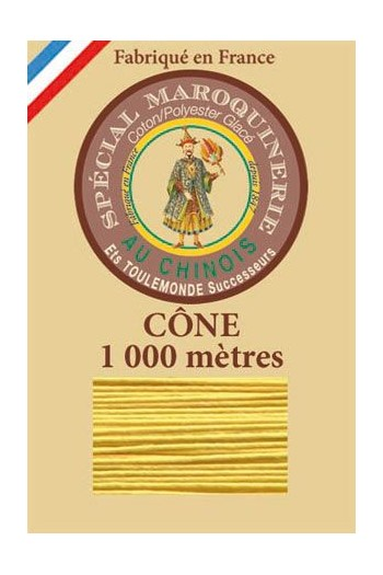 Fil Au Chinois leatherwork polycotton thread size 50/3 - 1 000m cone - Col. 239 Chicklet