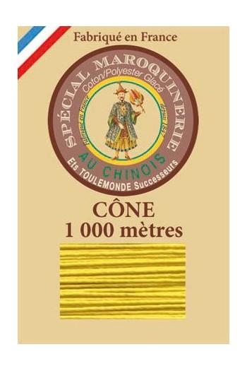 Fil spécial maroquinerie 50/3 Fil Au Chinois - Cône 1 000 m - Coloris 259 Soleil