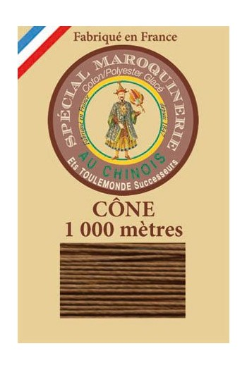 Fil Au Chinois leatherwork polycotton thread size 50/3 - 1 000m cone - Col. 374 Bronze