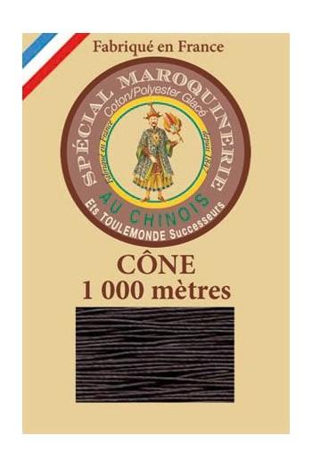 Fil spécial maroquinerie 50/3 Fil Au Chinois - Cône 1 000 m - Coloris 901 Marron foncé