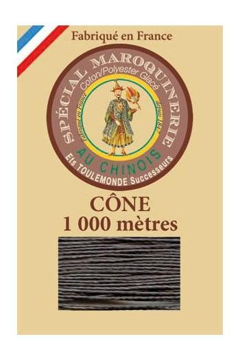 Fil Au Chinois leatherwork polycotton thread size 50/3 - 1 000m cone - Col. 872 Slate