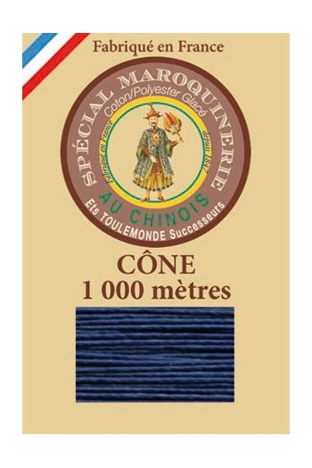 Fil Au Chinois leatherwork polycotton thread size 50/3 - 1 000m cone - Col. 667 Night