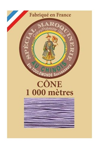 Fil Au Chinois leatherwork polycotton thread size 50/3 - 1 000m cone - Col. 497 Mauve