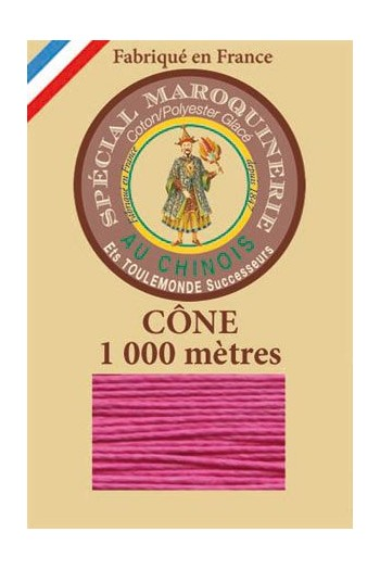 Fil Au Chinois leatherwork polycotton thread size 50/3 - 1 000m cone - Col. 125 Peony