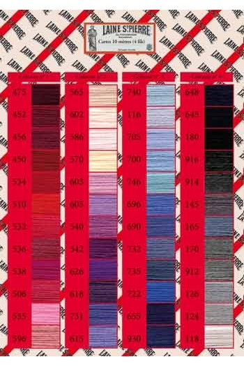 Printed 96 colour chart Laine Saint-Pierre 1847 Collection