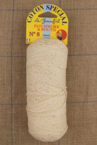 N°8 ecru cotton yarn for boutis patchwork Lebaufil brand