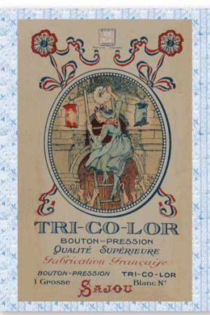 Sajou Tri-Co-Lor Press Fastener Postcard