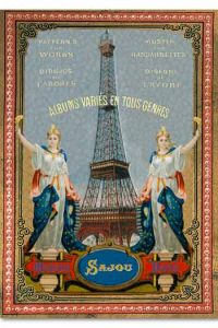 Sajou Eiffel Tower Postcard