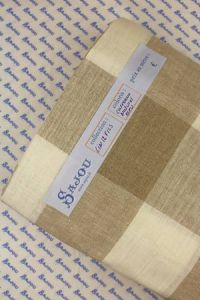 Sajou 12 count embroidery linen 180cm wide - ecru and natural squares