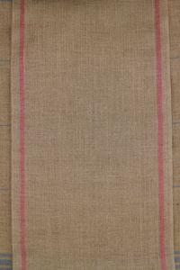 12 count linen swatch band pink/natural 20 x 21cm
