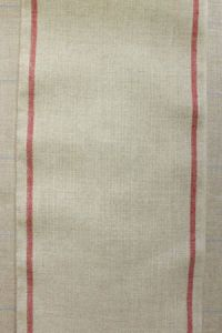 12 count linen swatch band red/natural 20 x 22cm
