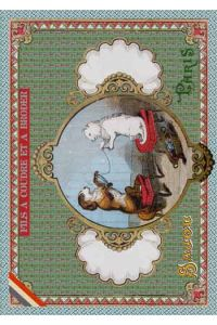 Sajou Cat and Dog winding wool postcard