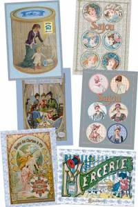 Six Sajou postcards Limited Edition 4Vintage documents