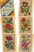 Six Sajou postcards vintage tapestry petit point Series 104