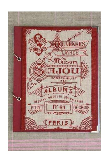 Kit de point de croix : bloc-notes couverture album Sajou