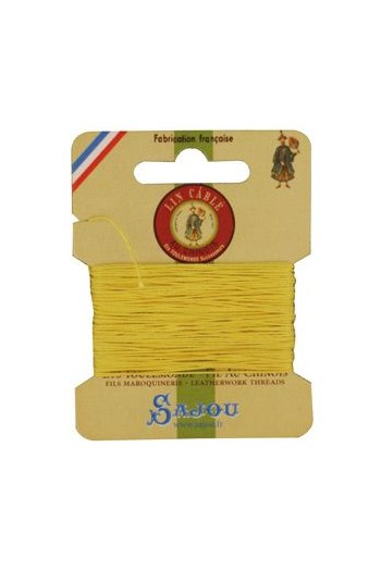 Fil Au Chinois waxed cable linen size 532 10m card - Colour 239 Chicklet