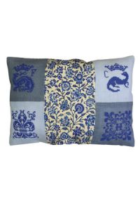 Sajou Chenonceau blue cushion cross stitch kit