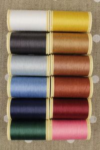 Box of 12 spools Gloving thread - Assortment 3 - vintage tones
