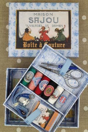 Complete sewing set Small model - Sajou's little girls