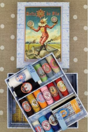 Complete sewing thread box - polyester & cotton threads
