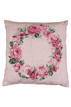Cross stitch kit: crown of roses cushion