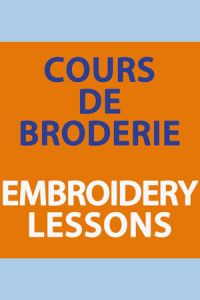 Embroidery lessons Carole Magne 12th Apr. 2018 2.30pm to 4.30pm