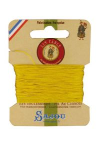 Waxed cable linen size 332 10m card -  259 - Sunshine