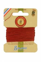 Waxed cable linen size 332 10m card -  333 - Copper
